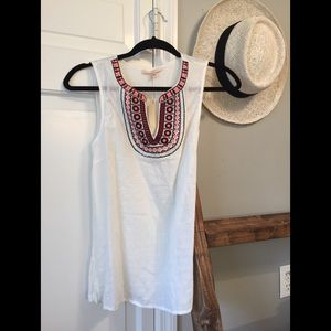 Skies Are Blue Embroidered Sleeveless Top